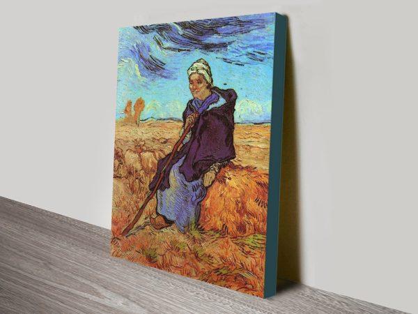 Buy a Van Gogh Canvas Print of The Shepherdess