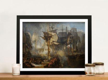 The Battle of Trafalgar JMW Turner Canvas Art Print