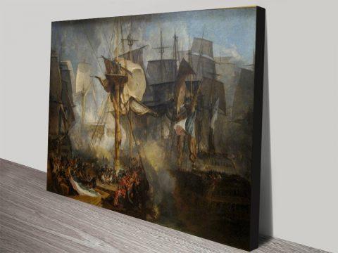 The battle of Trafalgar Joseph_Mallord William Turner canvas print