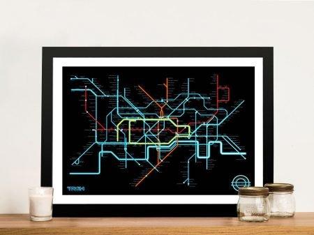 Buy a Tron Legacy Fan Art Tube Map Poster