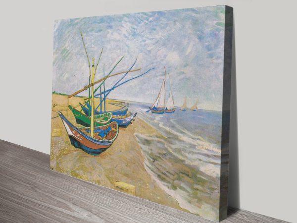 Buy a Framed Print of Boats at Saintes-Maries