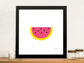 Buy a Watermelon Print on Canvas by Ann Kelle