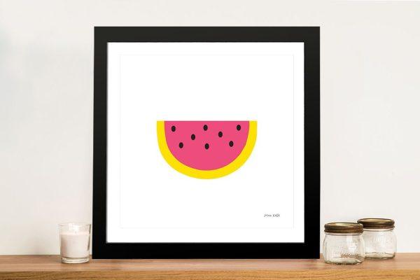 Buy a Watermelon Print on Canvas by Ann Kelle