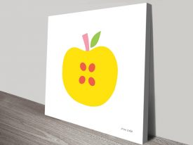 Buy Yellow Apple Framed Art on Canvas