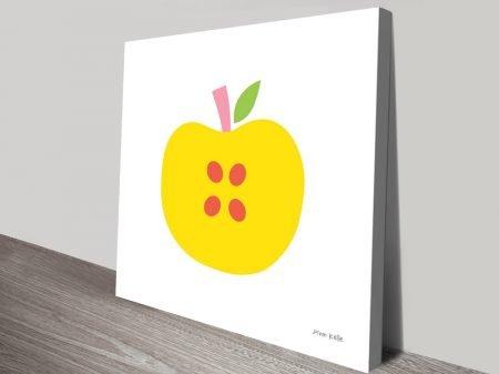 Buy Yellow Apple Framed Art on Canvas