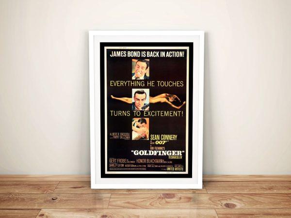 Buy a Framed Poster Print for Goldfinger