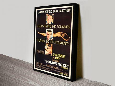 Buy a Goldfinger James Bond Print Cheap Online