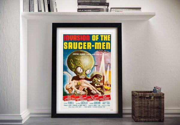 Buy Invasion of the Saucer Men Vintage Poster