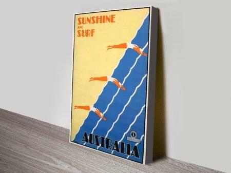 Buy a Vintage Travel Poster for Australia