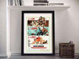 Buy a Vintage James Bond Thunderball Poster