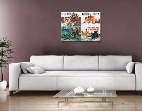 Buy James Bond Posters Unique Gift Ideas Online