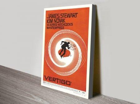 Buy a Framed Canvas Movie Poster for Vertigo
