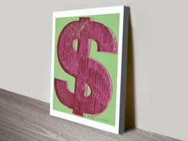 Buy Dollar Sign Warhol Canvas Pop Art