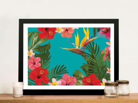 Buy a Bird of Paradise Floral Framed Print