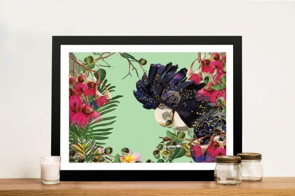 Buy Black Cocky Australian Birds Wall Art
