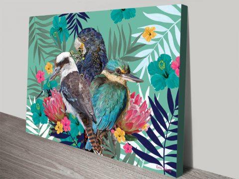 Buy Colourful Wild Bird Art Prints on Canvas AU