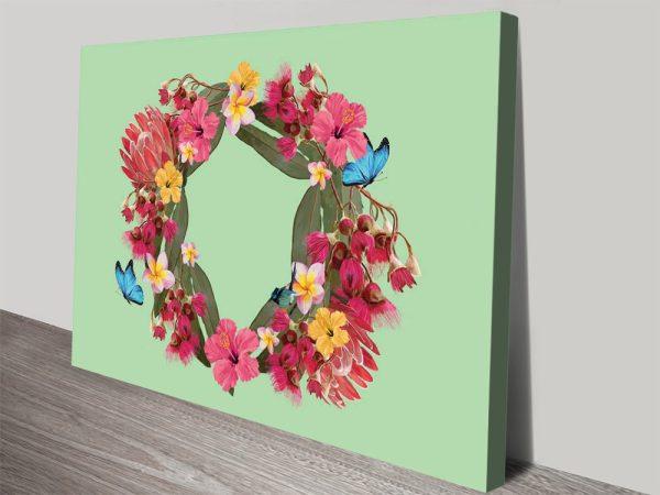 Buy Botanical Reef Floral Art on Canvas