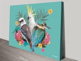 Buy Cockatoo Kookaburra & Kingfisher Artwork