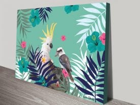 Buy Cockatoo Possum Kookaburra Framed Art