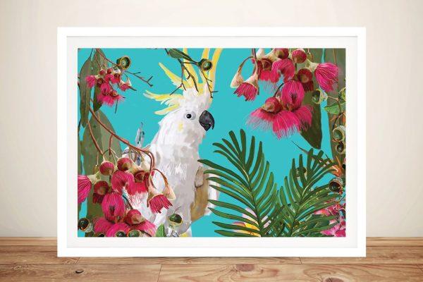 Buy Cockatoo Tropical Framed Canvas Art