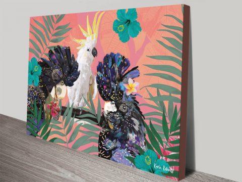 Buy Cocky Black Cockys Karin Roberts Wall Art