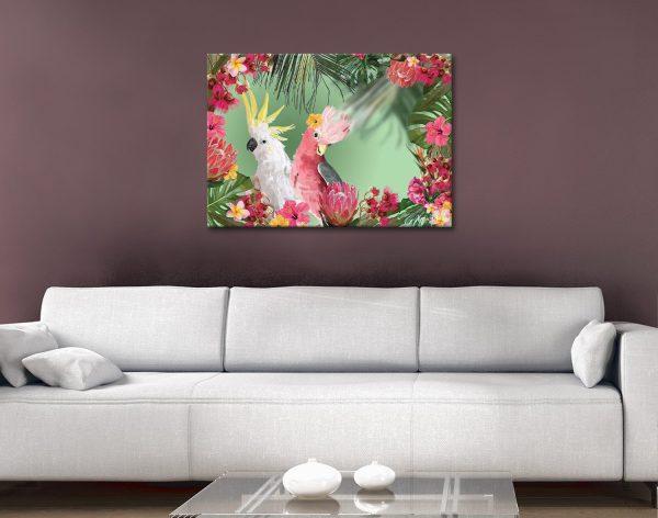 Buy Ready to Hang Galah Floral Canvas Art