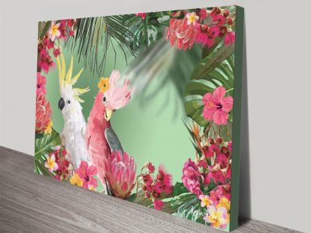 Buy Colourful Birds Karin Roberts Art on Canvas