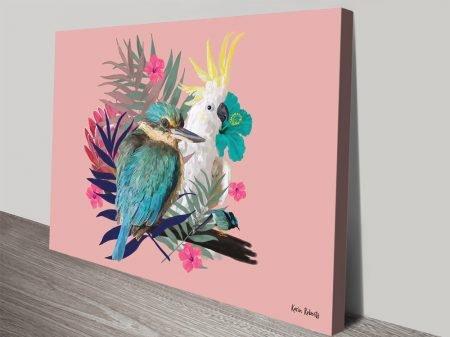 Buy Kingfisher Cockatoo Framed Canvas Art