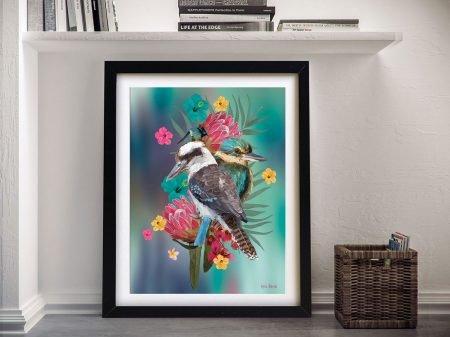 Buy Kookaburra Kingfisher Warratah Wall Art