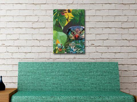 Buy Ready to Hang Owl & Frog Karin Roberts Art