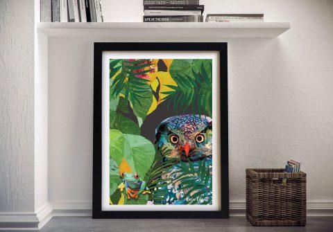 Buy Owl & Frog Tropical Framed Wall Art