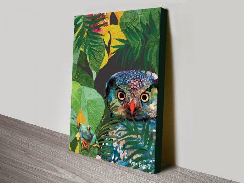 Buy Owl & Frog Karin Roberts Canvas Art AU