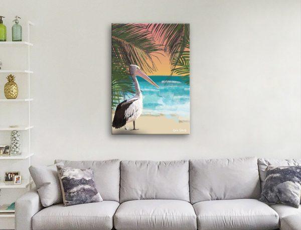 Buy Pelican on Beach Affordable Art Prints AU