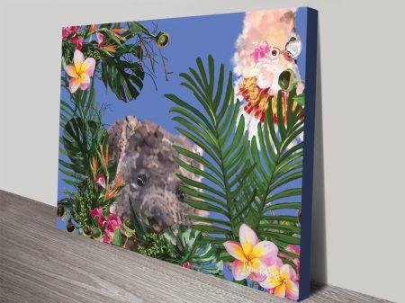 Buy Botanical Wombat Framed Canvas Art