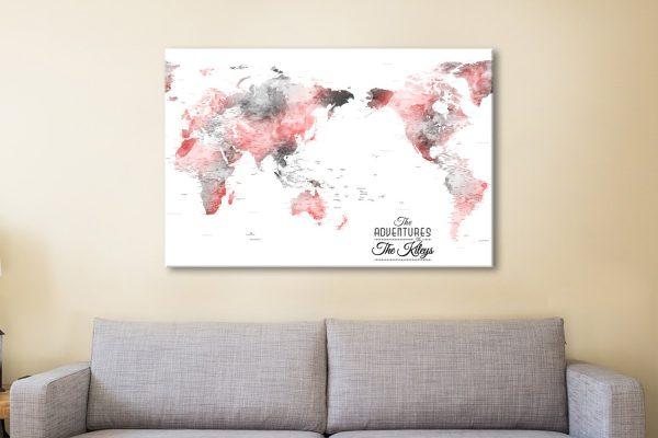 Buy Affordable Custom Watercolour World Maps