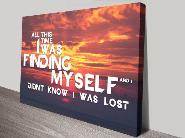 Buy Avicii Quote Sunset Canvas Wall Art