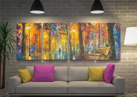 Buy Bench of Patience 4-Panel Afremov Art