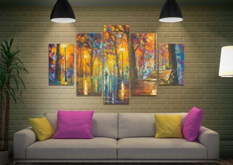 Buy Ready to Hang Split Diamond Wall Art AU