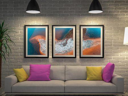 Buy Matt Day Bird Island 3-Panel Canvas Art