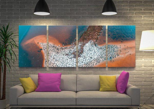 Buy a Bird Island Split Panel Canvas Art Set