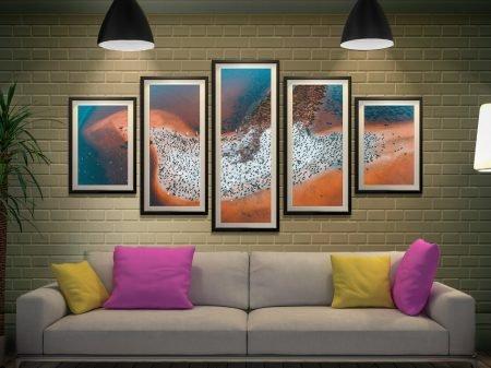 Buy a Bird Island 5-Panel Canvas Wall Art Set