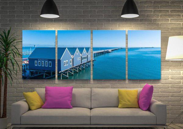 Buy Busselton Jetty 4-Panel Wall Art Set
