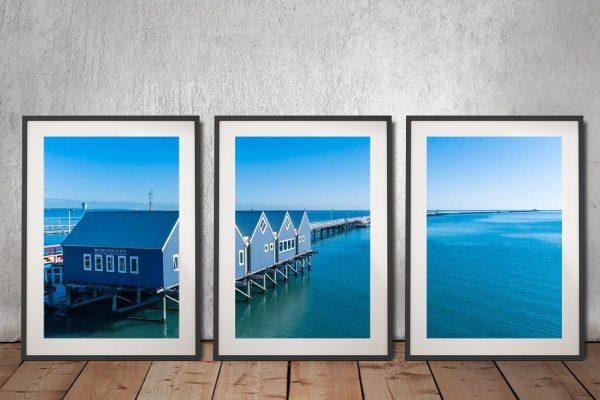 Buy Framed Busselton Jetty Triptych Wall Art