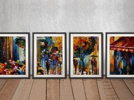 Buy Cafe in the Old City 4-Piece Wall Art