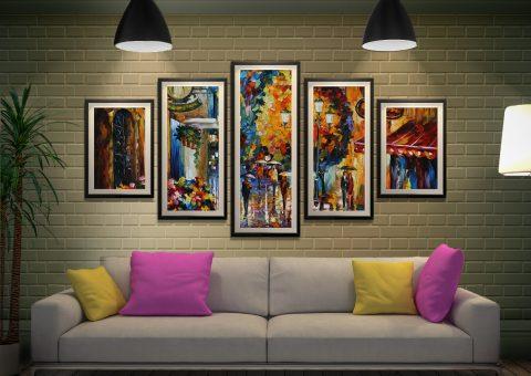 Buy Cafe in the Old City Afremov 5-Panel Art AU