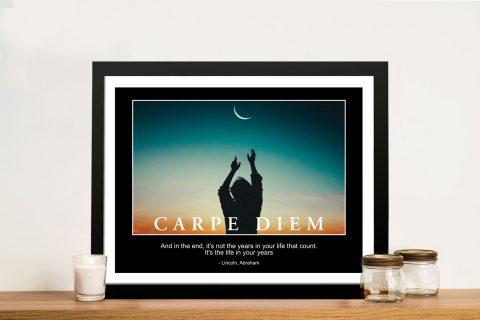 Buy Carpe Diem Artwork Great Gift Ideas AU