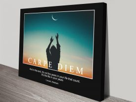 Buy a Carpe Diem Motivational Poster Print