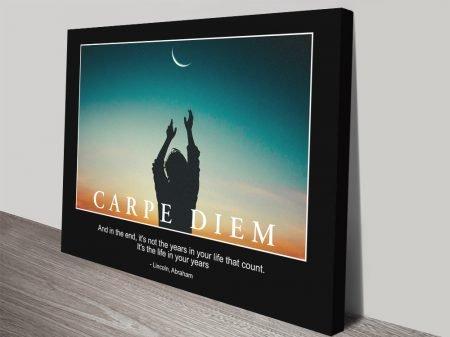 Buy a Carpe Diem Motivational Poster Print