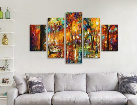 Buy Colorful Night 5-Panel Canvas Art Set