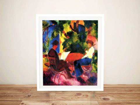 Buy Couple at the Garden Table Framed Art
